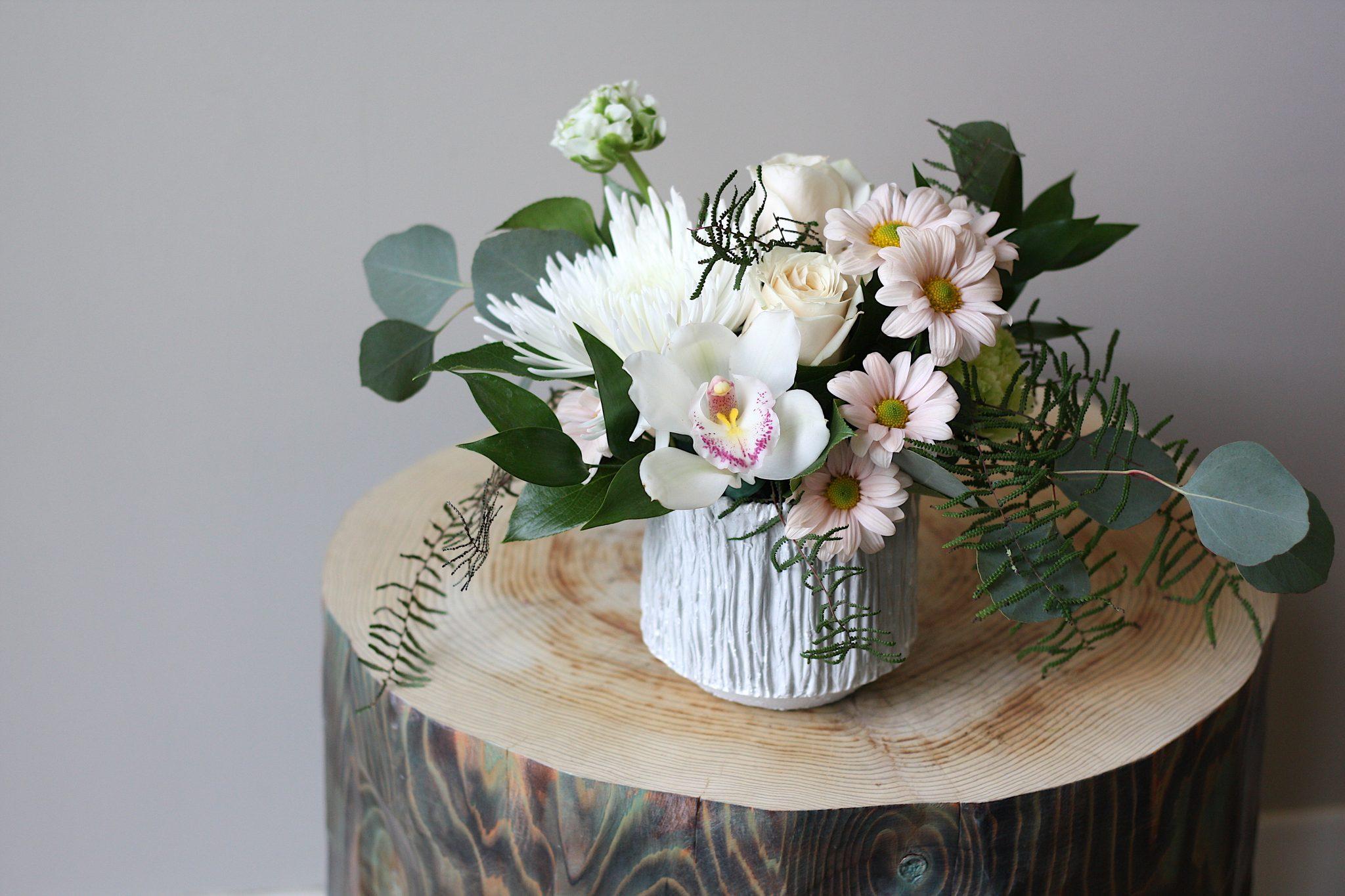 Flower Shop West Kelowna | Passionate Blooms Floral Design | white pastel flowers