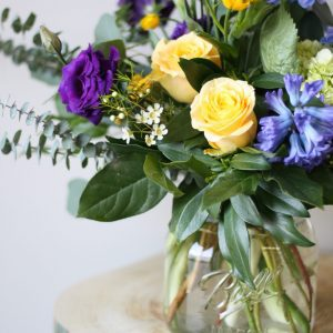 Flower Shop West Kelowna | Passionate Blooms Floral Design | mason jar flowers blue
